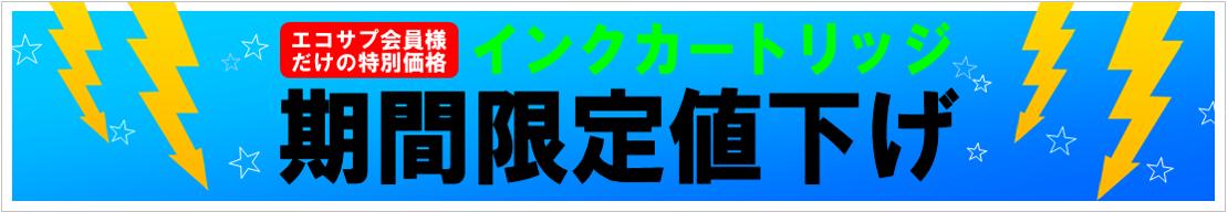 インクカートリッジ限定値下げ★エコサプ会員様特別企画